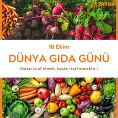 16 Ekim Dünya Gıda Günü #dünyagıdagünü #worldfoodday #gıdayasaygı #gıdaisrafı Tavus Halı Cami Halısı, Yurt Halısı %100 Yün ve Akrilik Halı www.tavus.com.tr Tel+90(216)461 4545  #tavushali #camihalısı #cami #halı #hali #halimodelleri #dekoratifhalı #halıdesenleri #yünhalı #bugün Vegetables, Food, Veggies, Essen, Vegetable Recipes, Yemek, Meals