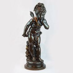 Fine Patinated Bronze Sculpture of Cupid with an Apple by Paul Duboy A Century Patinated Bronze Sculpture of Cupid with an Apple by Paul DuboyA Century Patinated Bronze Sculpture of Cupid with an Apple by Paul Duboy Bronze Sculpture, Cupid, 19th Century, Sculptures, Apple, Statue, Antiques, Art, Apple Fruit