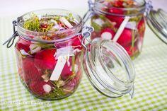 Kiszona rzodkiewka na ostro Fermented Foods, Preserves, Food And Drink, Vegetables, Recipes, Paleo, Fit, Fotografia, Diy