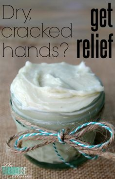 Get relief from dried, cracked hands | Homemade All-Natural Body Butter | TheTurquoiseHome.com