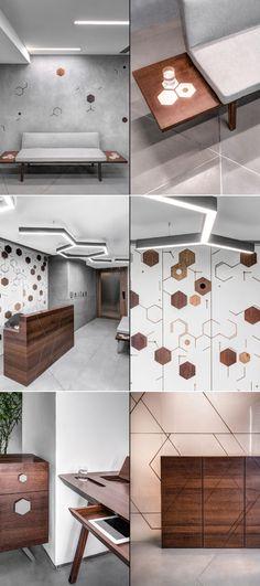 64 Modern Office Interior Design Concepts - Home Decorations Trend 2019 Design Studio Office, Modern Office Design, Office Designs, Minimal, Cabin Interior Design, Interior Modern, Office Entrance, Lab, Co Working