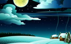 Christmas Christmas trees clouds houses ice wallpaper (#2508052) / Wallbase.cc