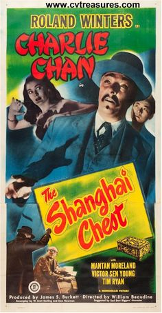 """The Shanghai Chest"", 1948 Original Vintage THREE Sheet Movie Poster on Linen, Starring Roland Winters Guaranteed Authentic for life at http://www.cvtreasures.com $950"