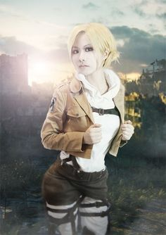 Attack on Titan Annie Leonhart cosplay Anime Cosplay, Epic Cosplay, Amazing Cosplay, Cosplay Girls, Cosplay Costumes, Halloween Costumes, Armin, Mikasa, Snk Annie