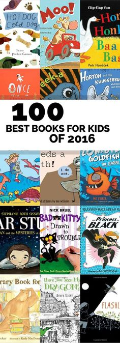 100 of the Best Books for Kids in 2017 via @spaceshipslb