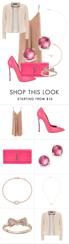 """""""Spring Friday Night"""" by fel3 ❤ liked on Polyvore featuring Sans Souci, Casadei, Yves Saint Laurent, Ippolita, Jemma Wynne, Xiao Wang, LC Lauren Conrad and Dorothy Perkins"""