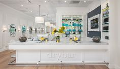 i love the dry bar sign cutout in wood and painted white to give the perfect contrast.