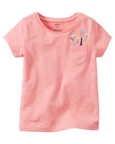 Toddler Girl Paint Brush Pocket Graphic Tee from Carters.com. Shop clothing & accessories from a trusted name in kids, toddlers, and baby clothes.