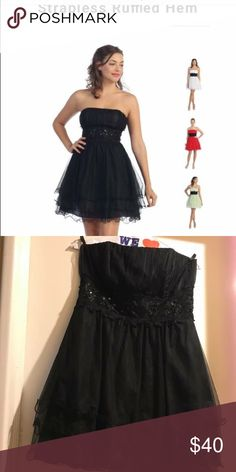 Juniors Strapless Black Dress XL, Excellent Cond. Juniors Starbox XL black strapless dress. Is in excellent, like brand new condition. Smoke free home Starbox Dresses