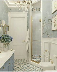 upstairs bathroom remodel is entirely important for your home. Whether you pick the minor bathroom remodel or diy home decor for apartments, you will create the best mater bathroom for your own life. Yellow Bathrooms, Dream Bathrooms, Beautiful Bathrooms, Yellow Baths, Bad Inspiration, Bathroom Inspiration, Bathroom Renos, Small Bathroom, Gold Bathroom