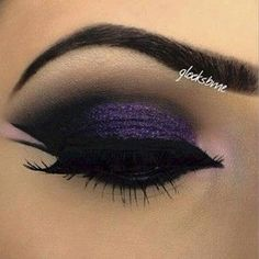 Purple make-up party look