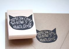 Cat Return Address Stamp | Native Bear