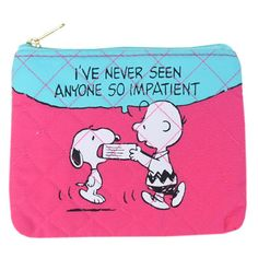 peanuts quilting tissue case #snoopy #charliebrown #pink