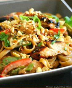 This peanutty Asian Sesame Chicken Pasta dish is a terrific twist on a homestyle pasta dish with Asian flair. It's like making homemade takeout. Recipe Using Chicken, Easy Chicken Recipes, Asian Recipes, Ethnic Recipes, Oriental Recipes, One Dish Dinners, Pasta Dinners, Chicken Pasta Dishes, Authentic Chinese Recipes