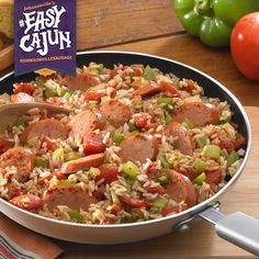"PIN your favorite jambalaya, gumbo or other sausage-and-rice recipes, TAG with "" #EasyCajun with #JohnsonvilleSausage"" and then ENTER at http://johnsonville.com/easycajun for a chance to #win a rice cooker, Johnsonville Andouille Sausage and Uncle Ben's rice!"