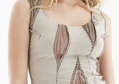 Natalie Chanin Clothing | Great peek-a-boo upcycle for a too small top, personalise it with hand ...
