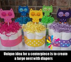 Bash Corner - http://www.bashcorner.com/great-ideas-for-unique-owl-baby-shower-theme/