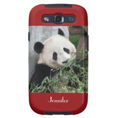 "Samsung Galaxy S3 Case Giant Panda Red - This case for the Samsung Galaxy S3 is part of our ""Giant Pandas"" collection, which includes matching kitchen items, other gifts, greeting cards, and wrapping paper. What a wonderful complement for a new Galaxy S3. Wonderful gift for panda lovers. Original photograph by Marcia Socolik, taken in Chengdu, China. All Rights Reserved © 2013 Alan & Marcia Socolik."