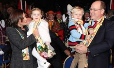 Monaco's royal twins Princess Gabriella and Prince Jacques enjoyed a trip to the circus on Day four of the 42nd International Circus festival in Monte Carlo on January 21. While mom Princess Charlene was absent, aunt Princess Stephanie was there to step in to give proud dad Prince Albert a hand.     Photo: TO-Monaco Pool/Getty Images