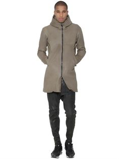 OFFICINE CREATIVE - STRETCH LEATHER PARKA BONDED IN NEOPRENE - LUISAVIAROMA - LUXURY SHOPPING WORLDWIDE SHIPPING - FLORENCE
