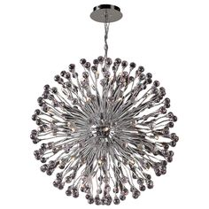 54 Light Chandelier Aspasia Collection shown in Polished Chrome by PLC Lighting - 72178