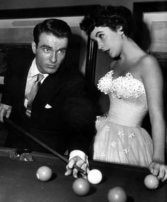 Elizabeth Taylor with Montgomery Clift in 'A Place in the Sun' (1951, Paramount)