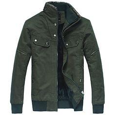 Men's Cotton Fleece Inside Coat