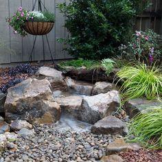Landscaping With Fountains, Garden Fountains, Tropical Landscaping, Backyard Landscaping, Landscaping Ideas, Fountain Garden, Landscaping Edging, Outdoor Fountains, Gardens