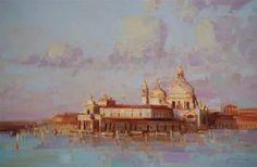 Santa Maria Della Salute, Venice Architecture, Oil Painting