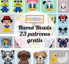 23 patrones Hama Beads para descargar gratis | Pequeocio.com