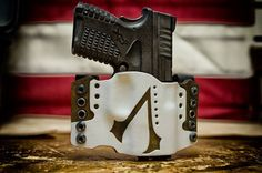 Assasins creed themed kydexleather holster by HYDRA