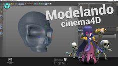 Modelando a caveirinha Clash of clans - cinema 4d