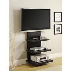 Dorel Home Furnishings Elevation Black AltraMount TV Stand