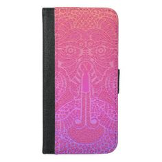 Custom abstract Dragon face Wallet Case pink Dragon Face, Pink Dragon, Secret Power, Female Dragon, Coral And Gold, Day Up, Apple Iphone 6, Custom Clothes, Initials