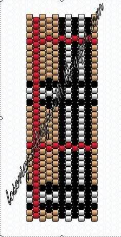 peyote tartan pattern - Schema Anello Burberry