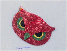Lea Stein  Glittery Athena the Owl Brooch / Pin