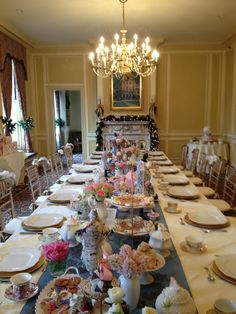 High tea table setting Crafts Pinterest