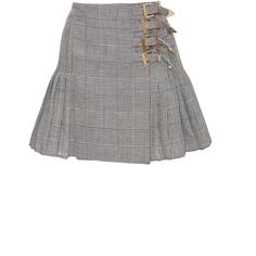 Antonio Berardi Melone Skirt (€1.350) ❤ liked on Polyvore featuring skirts, grey, gray high waisted skirt, antonio berardi, high waisted pleated skirt, high rise skirts and grey pleated skirt