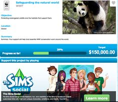 WWF and Sim social, great campaign!