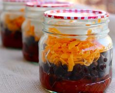 Make some containers of mini burritos-in-a-jar to keep in the fridge. | 26 Insanely Good Snacks You Can Make Ahead And Eat All Week