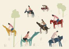 Riding Animals by Faye Moorhouse http://sixbluepumpkins.tumblr.com/post/58498049143/riding-animals