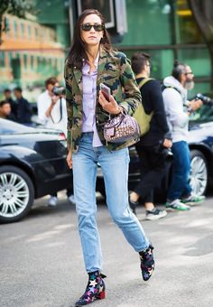 15 Different Ways to Style the Military Jacket Trend via @WhoWhatWear