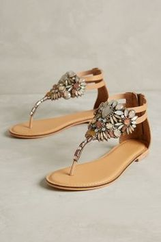 Jasper & Jeera Pomona Thongs from Anthropologie. Shop more products from Anthropologie on Wanelo. Pretty Shoes, Cute Shoes, Me Too Shoes, Shoe Boots, Shoes Sandals, Flat Shoes, Flat Sandals, Shoe Closet, Slippers