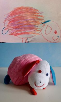 Children's Art Turned Into Stuffed Animals! It's truly your child's imagination come to life.