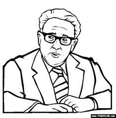henry kissinger coloring page free kissinger onl