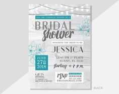 Host a fun bridal shower with these PRINTABLE invitations! With a rustic modern charm, these digital/printable designs are super adorable and made to order! Yup – Invitations will be personalized for you, and can be adjusted to suit your particular event.