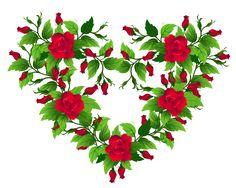 Rosas vermelhas Coração Decor PNG Clip Imagem