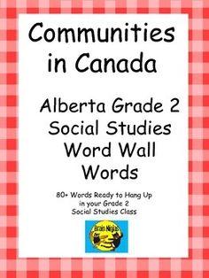 Alberta Grade 2 Social Studies Word Wall Words Teaching Social Studies, Teaching Science, Social Science, Teaching Ideas, Social Activities, Science Activities, Grade 2, Second Grade, School Fun