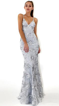 #promdress #eveningdresses #formaleveningdresses #mermaid Sexy Mermaid/ Trumpet Spaghetti straps V-neck Sequind Long Formal Dress, Mermaid Prom Dress, Evening Dresses