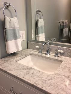 The beautiful marbling countertop pairs so well with the traditional faucet. Widespread Bathroom Faucet, Lavatory Faucet, Bathroom Faucets, Bathroom Goals, Bathroom Inspo, Bathroom Inspiration, Kingston Brass, Bathroom Remodeling, Traditional Design